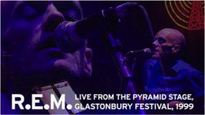 R.E.M.、1999年グラストンベリー・フェスティヴァルでのパフォーマンス完全版、 YouTubeで72時間限定プレミア公開決定